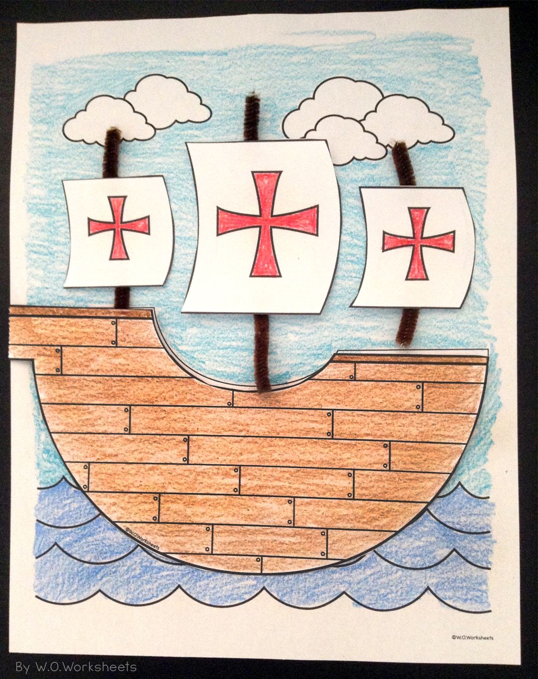 Columbus Day Writing Paper Craft For First Grade Crafts Columbus Day Classroom Crafts