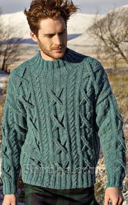 мужской свитер спицами вязание спицами для мужчин с описанием