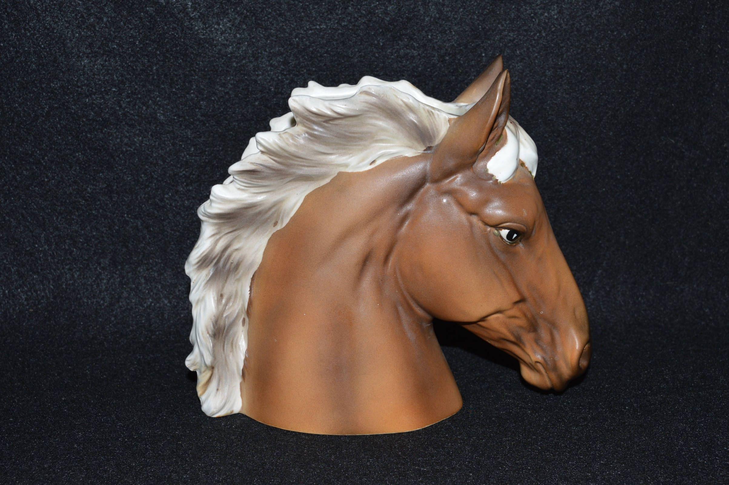Horse Head Planter, Palomino Horse, Figural Horse Planter, Inarco Planter, Horse Head Pot, Palomino Horse Gift, Animal Planters, Horse Decor by FabulousVintageStore on Etsy