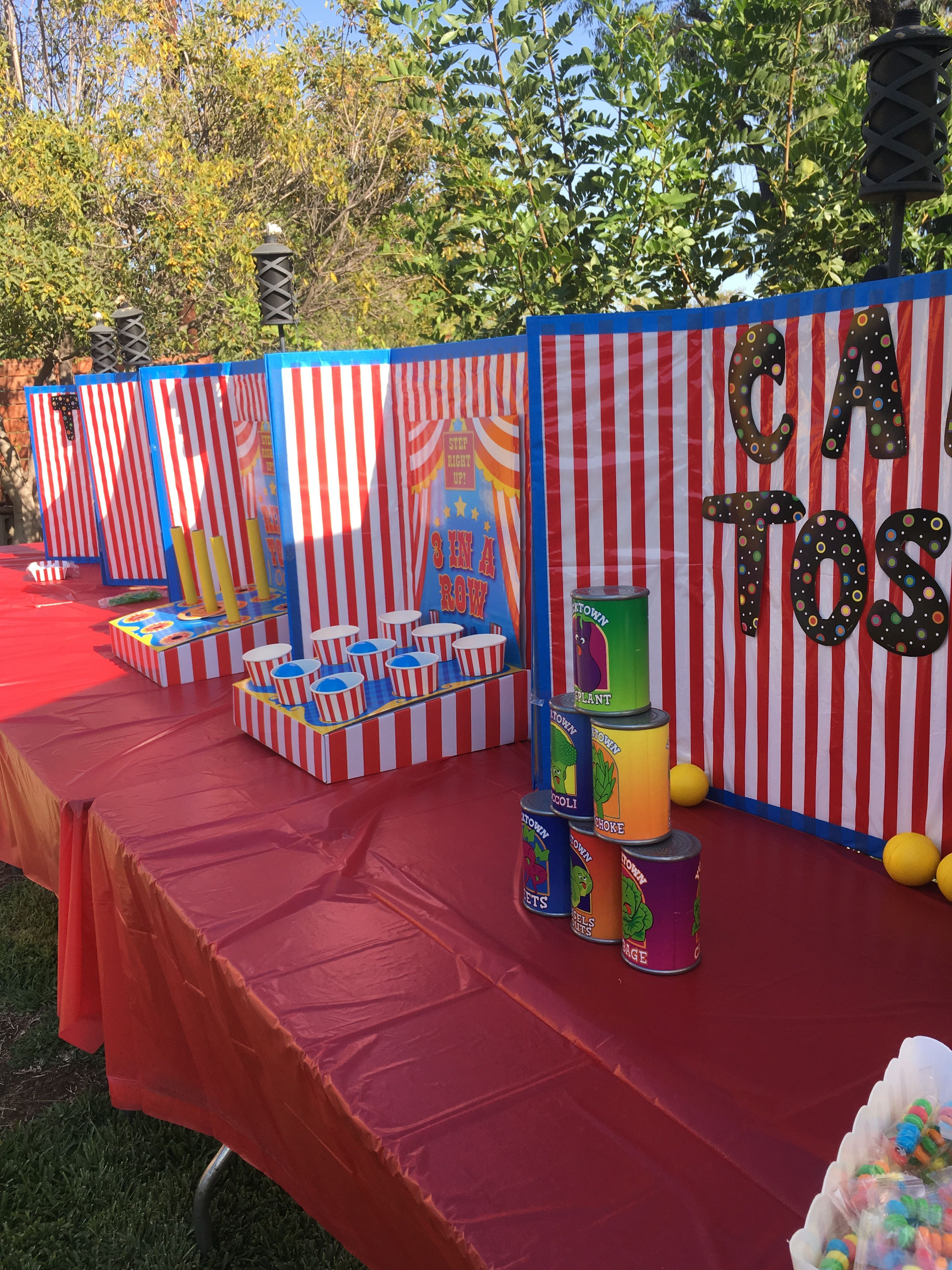Carnival party game ideas carnival birthday party theme