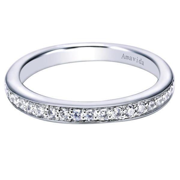 0.25 ct F-G SI Diamond Black Agate Fashion Ladie's Ring In 18K White Gold WB6244W83JJ