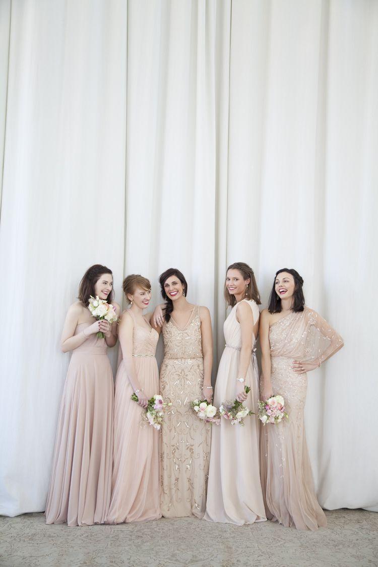 ed3ceacfca220 pink & nude bridesmaids dresses | blushing @BHLDN beauties ...