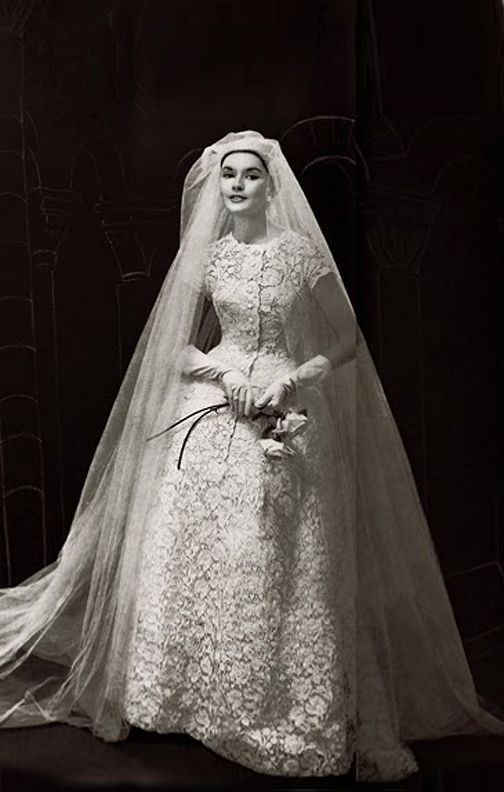 Vintage Christian Dior All Lace Wedding Dress C 1956