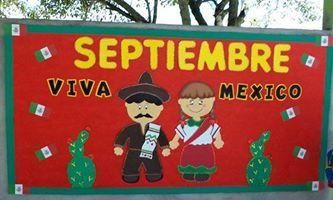 Peri dico mural de septiembre septiembre pinterest for Puertas decoradas 16 de septiembre