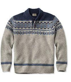 Llbean Llbean Classic Ragg Wool Fair Isle Henley Sweater