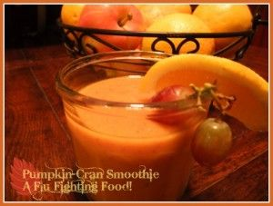 Probiotic Pumpkin-Cran Smoothie (for fighting the flu)