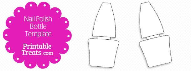 free-printable-nail-polish-bottle-shape-template | Spa Party ...