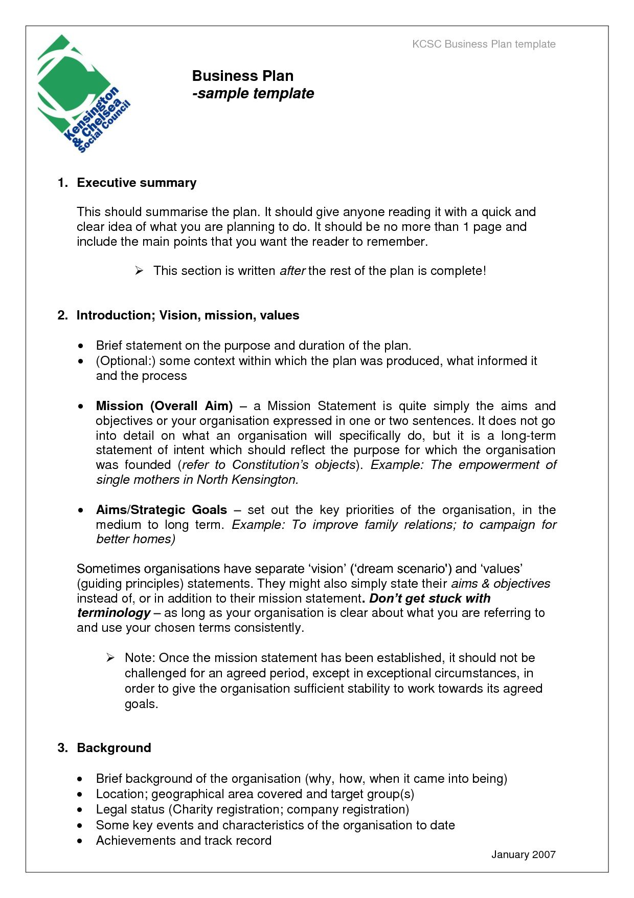 Pin On Business Plan Template Sample