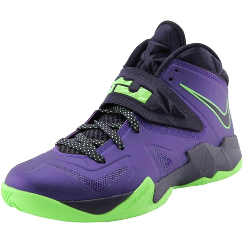 Nike LeBron Zoom Soldier VII Basketball Shoes Court Purple Blueprint Flash Lime