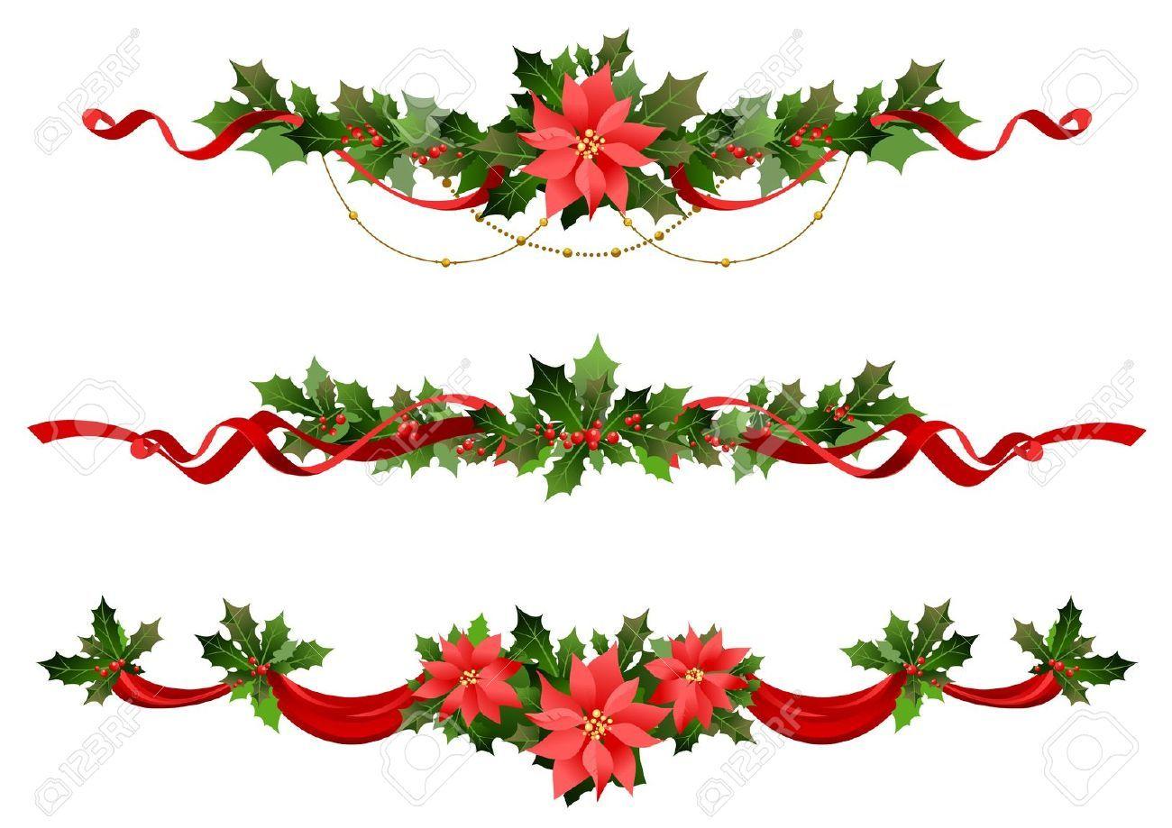 Stock Vector Art Christmas Decorations Christmas Swags