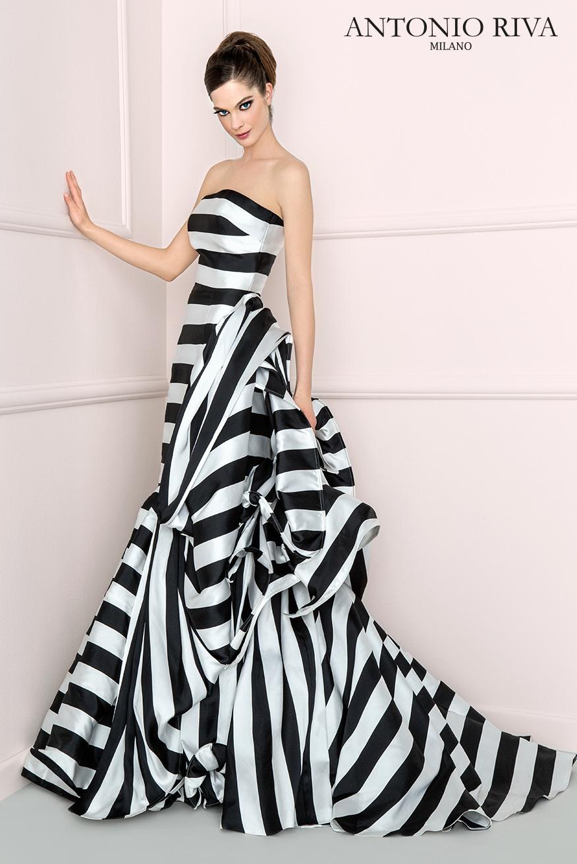 www.antonioriva.com black and white striped gown | Style in 2018 ...