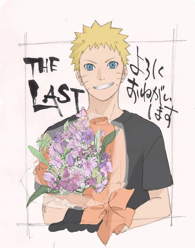 Naruto with flowers for Hinata