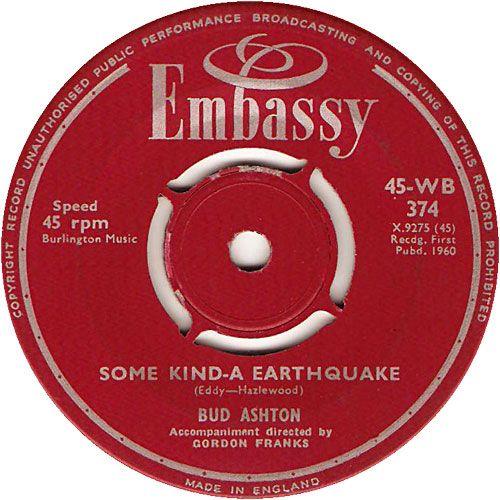 Some Kind-A-Earthquake - Paul Rich (WB374) Jan-60