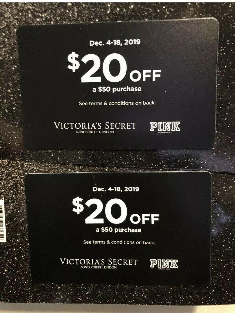 2 Victorias Secret Pink Holiday Reward Coupon 20 Of 50 December 4 18 Victorias Secret Pink Holiday Secret Pink Victoria S Secret