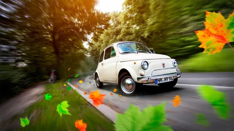 Gorgeous Old Fiat 500 Hd Wallpaper Wallpaperfx Fiat 500 Fiat Fiat Cinquecento