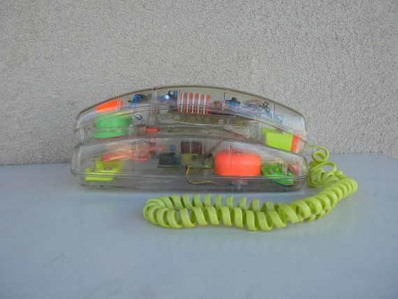 Image result for 1980s see through phone