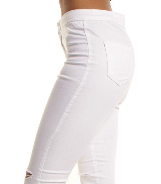 40%N6017ZS High Waist Women Denim Jeans 2017 Summer Skinny Femme Boyfriend Hole Ripped Pencil Pants Fashion Female Long Jeans