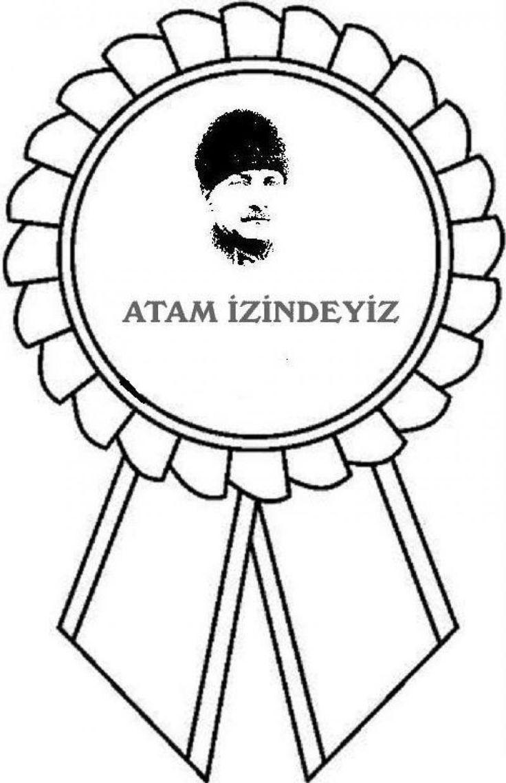 Ataturk Boyama Sayfasi Boyama Sayfalari Aplike Sablonlari Arilar