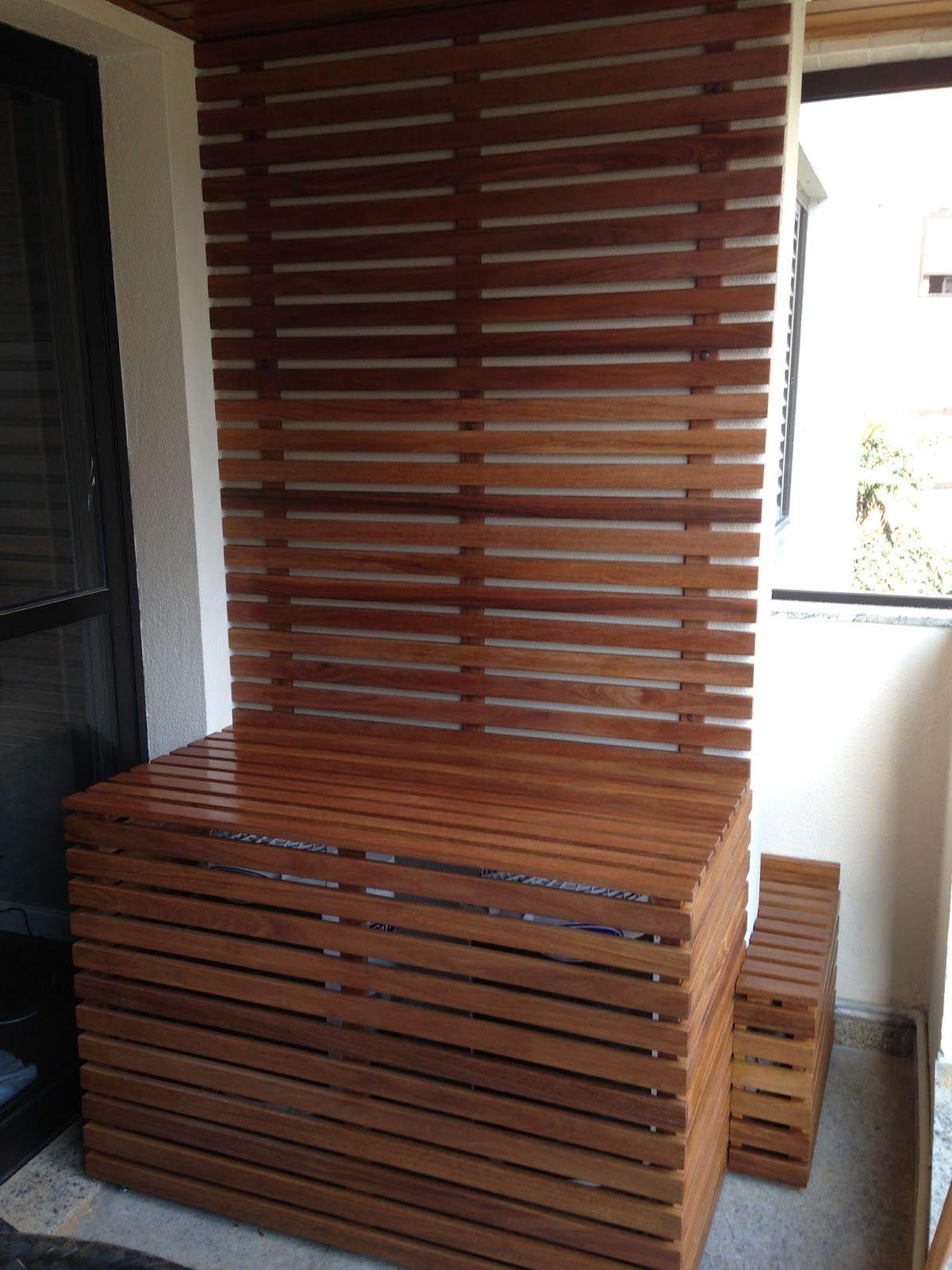 Esconder Janela ~ Atelier do Zero Protetor ar condicionado Caixa de madeira para esconder ar condicionado