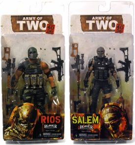 Neca Set Of Both Army Of Two 40th Day Action Figures Salem