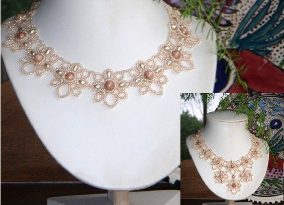 Beads necklace tutorial
