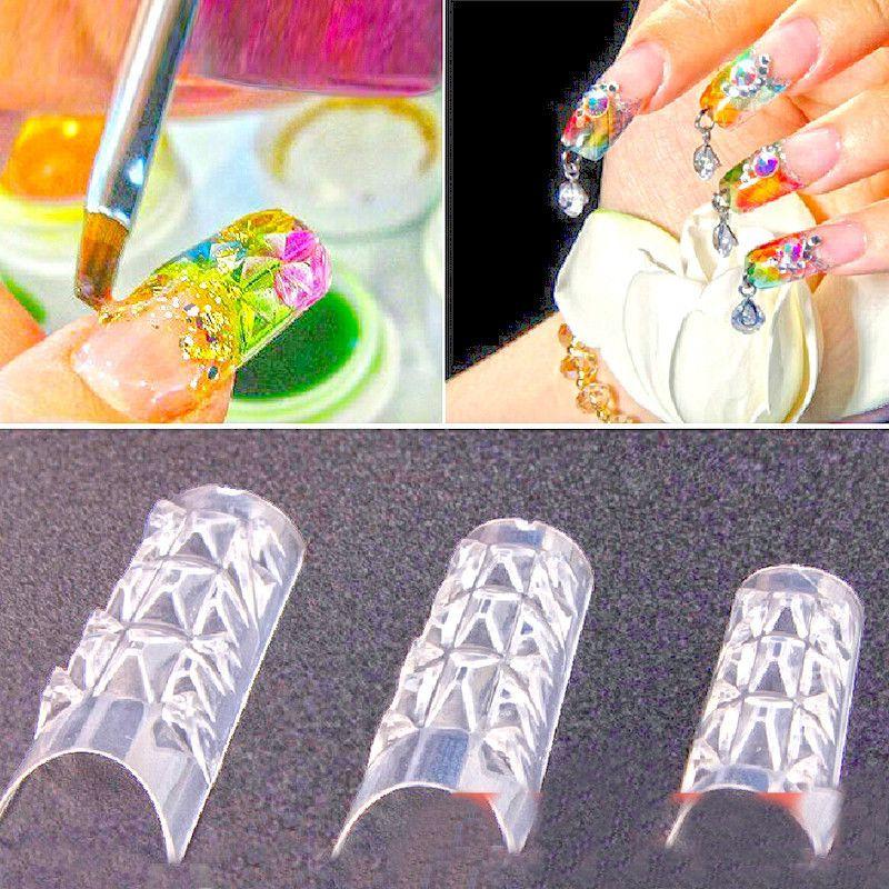 Free Shipping 500PCS New Clear Glaze False Fake Nail Tips Fashion ...