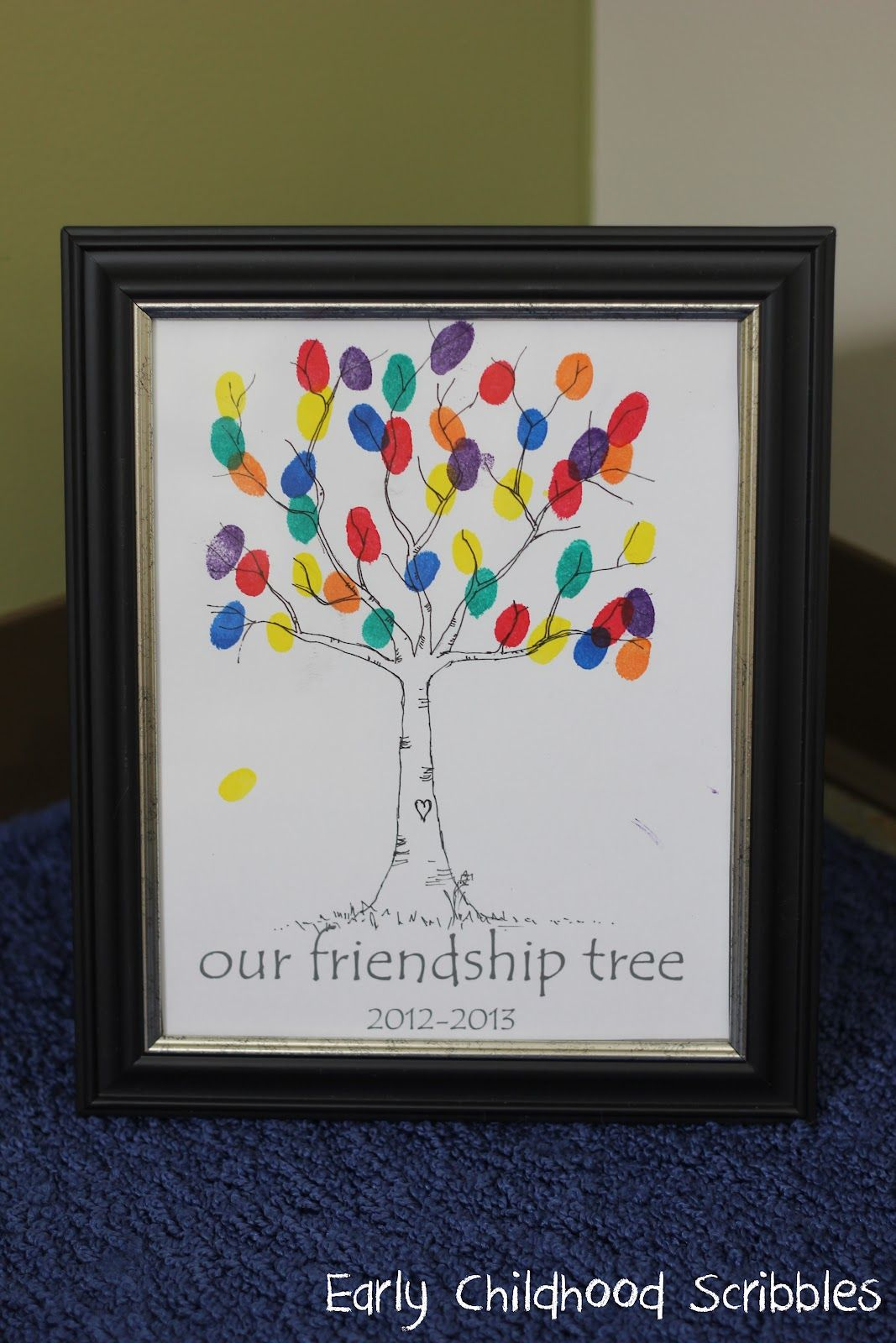 Make A Friendship Tree Using Your Students Fingerprints Great
