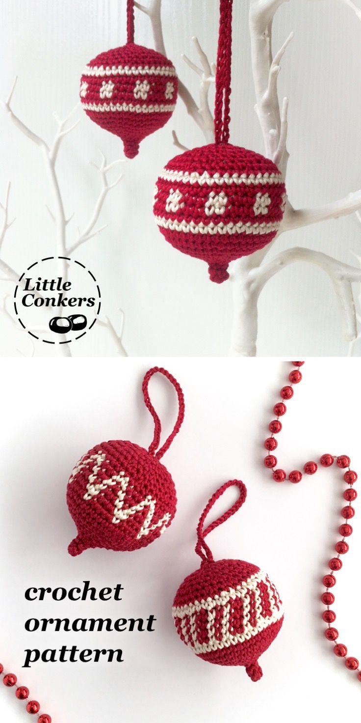 Christmas Ornament Crochet Pattern | Navidad, Adornos navidad y Foco