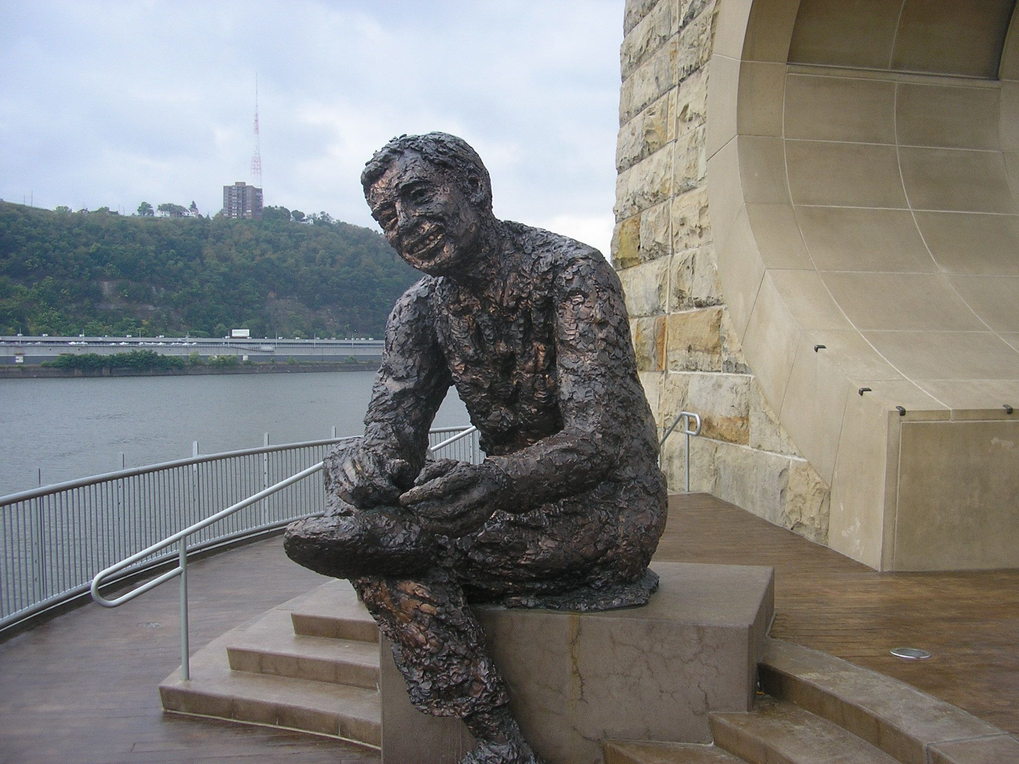 Tribute To Children The Mr Rogers Statue Old Manchester Bridge Pier North Shore Riverfront Park Art Rooney Ave Pittsburgh Pa Riverfront Statue