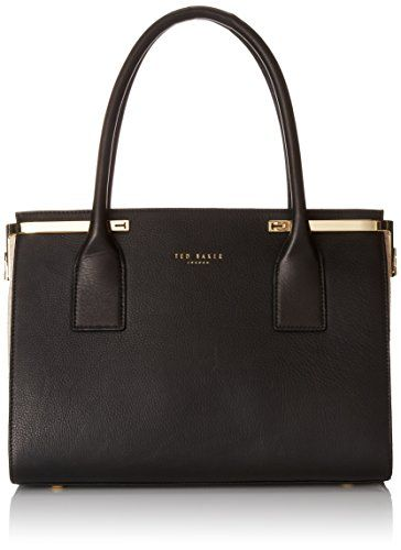 awesome Ted Baker Xanthe Exotic Hinged Corners Tote, Black, One Size Check more at http://imazon.mobileclone.com.au/product/ted-baker-xanthe-exotic-hinged-corners-tote-black-one-size/