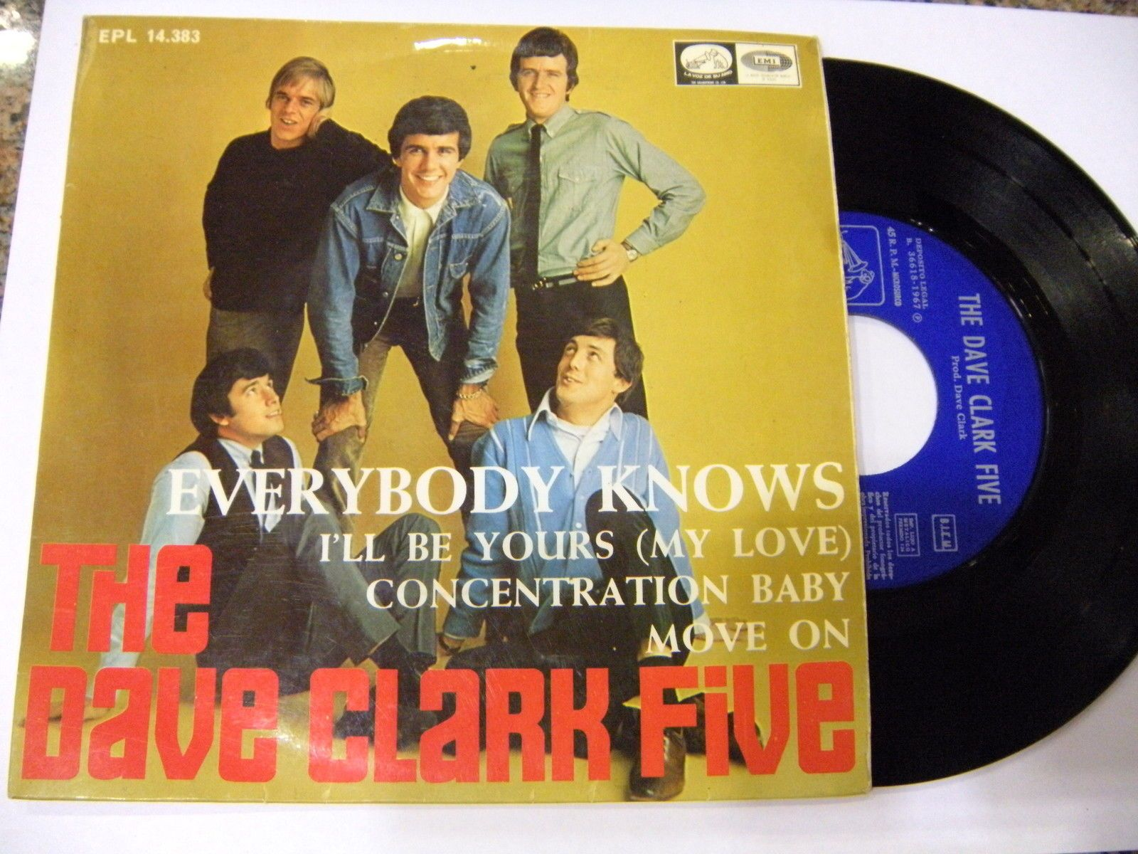 The Dave Clark Five ‎– Everybody Knows + 3 ' 7'' GOOD+ SPAIN PRESS 1967 in Música, CDs y vinilos,Vinilos,Rock | eBay
