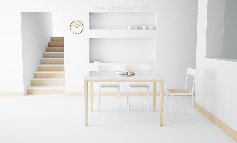 Mesa Cocina Nordica Extensible Tu Cocina Y Bano Mesas Sillas Y - Mesa-cocina-blanca