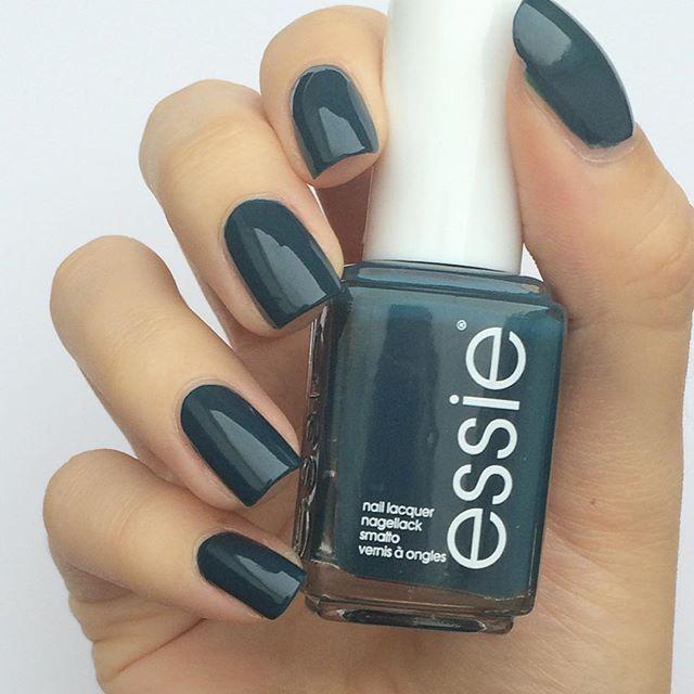Contemporáneo Essie Verde Azulado Oscuro Esmalte De Uñas Ornamento ...