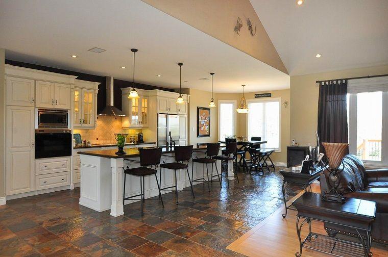soggiorno con angolo cottura-elegante | Arredamento | Pinterest