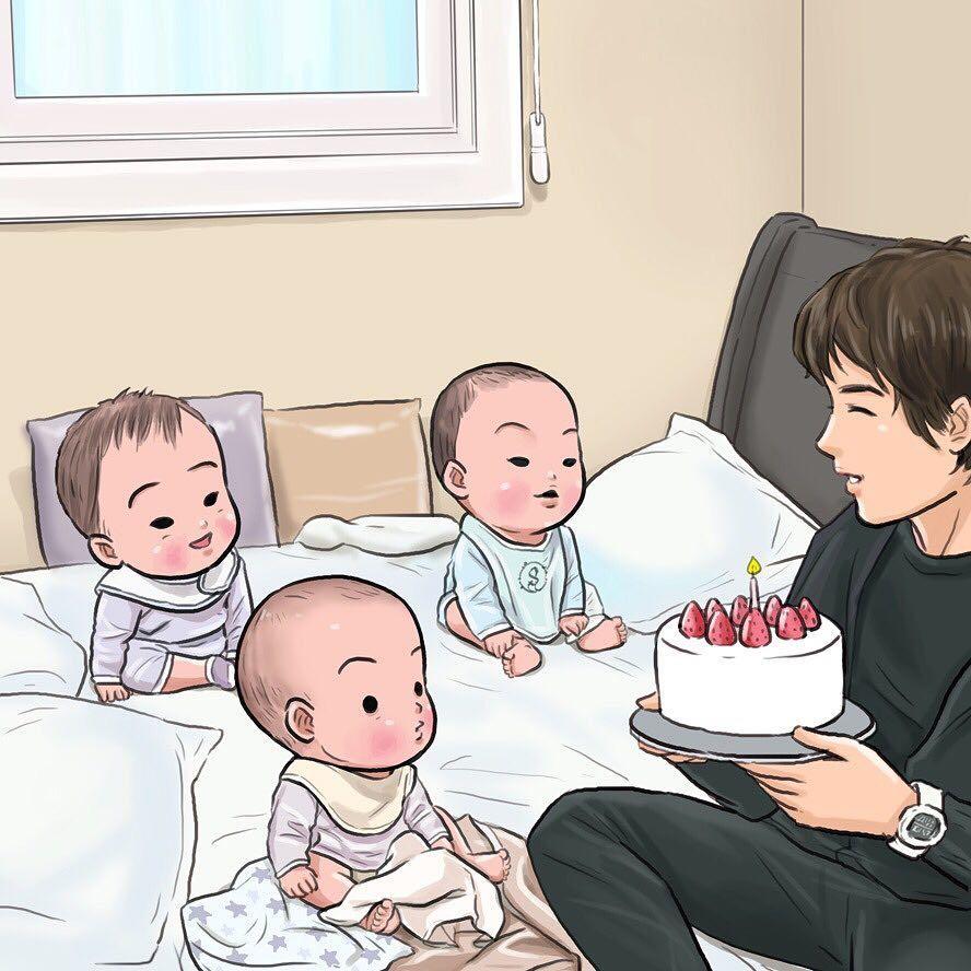 Happy Birthday 🎂 daehanmingukmanseh แฝดสาม