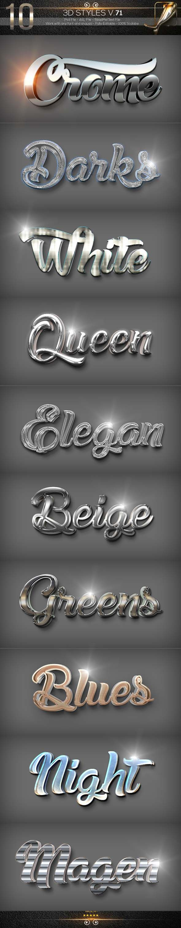 10 3d Text Styles D 71 Photoshop Text Effects Photoshop Text Text Style