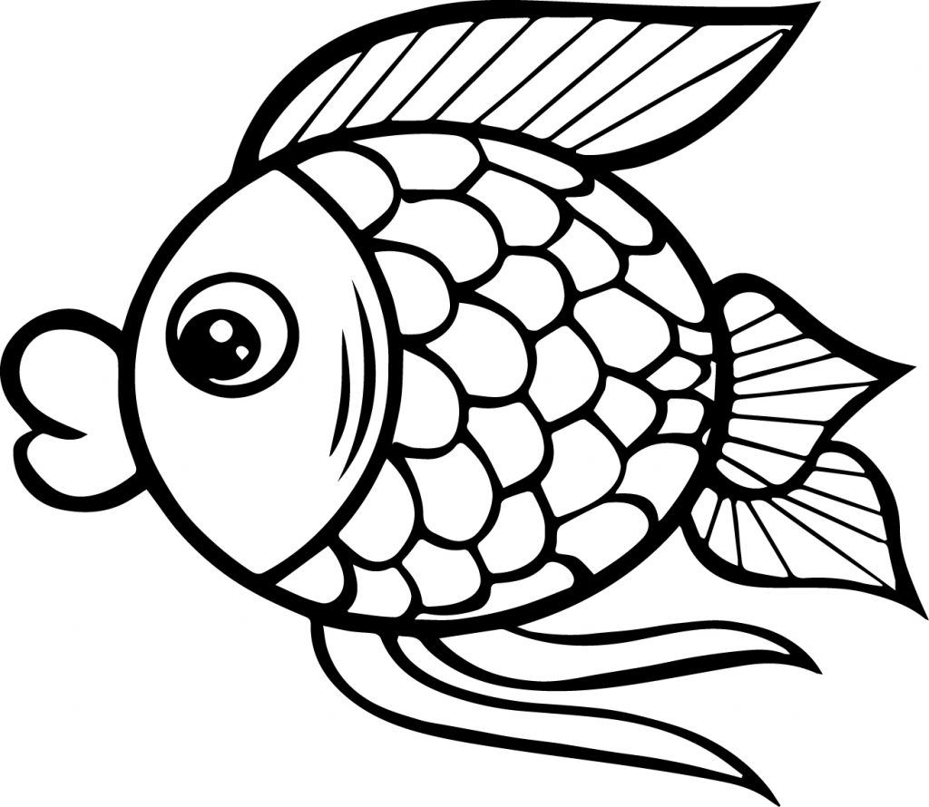 Preschool Coloring Pages and Worksheets Fish coloring
