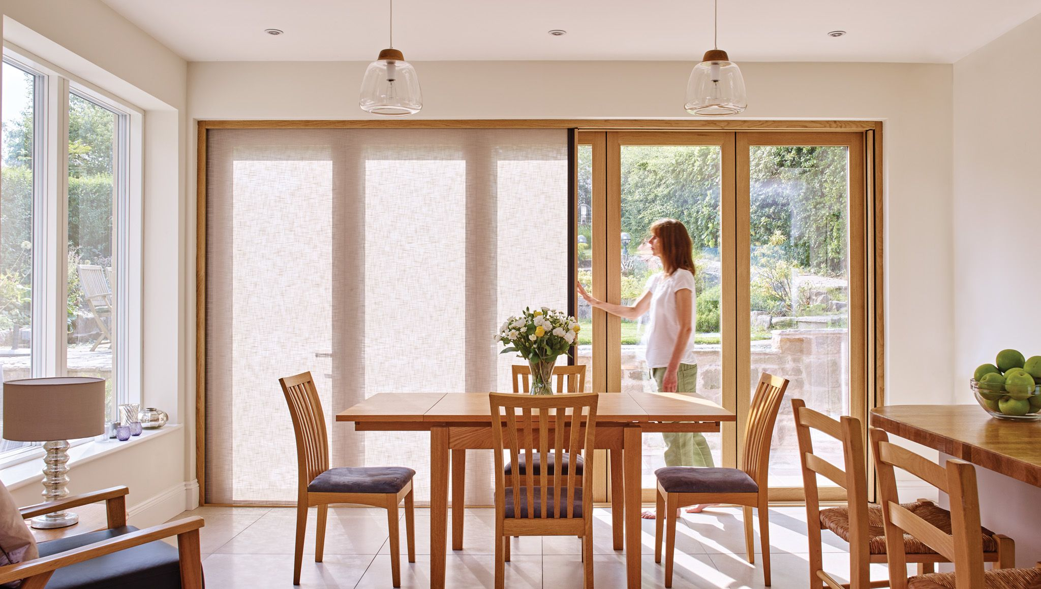 Centor integrated doors are available in bifold sliding and french