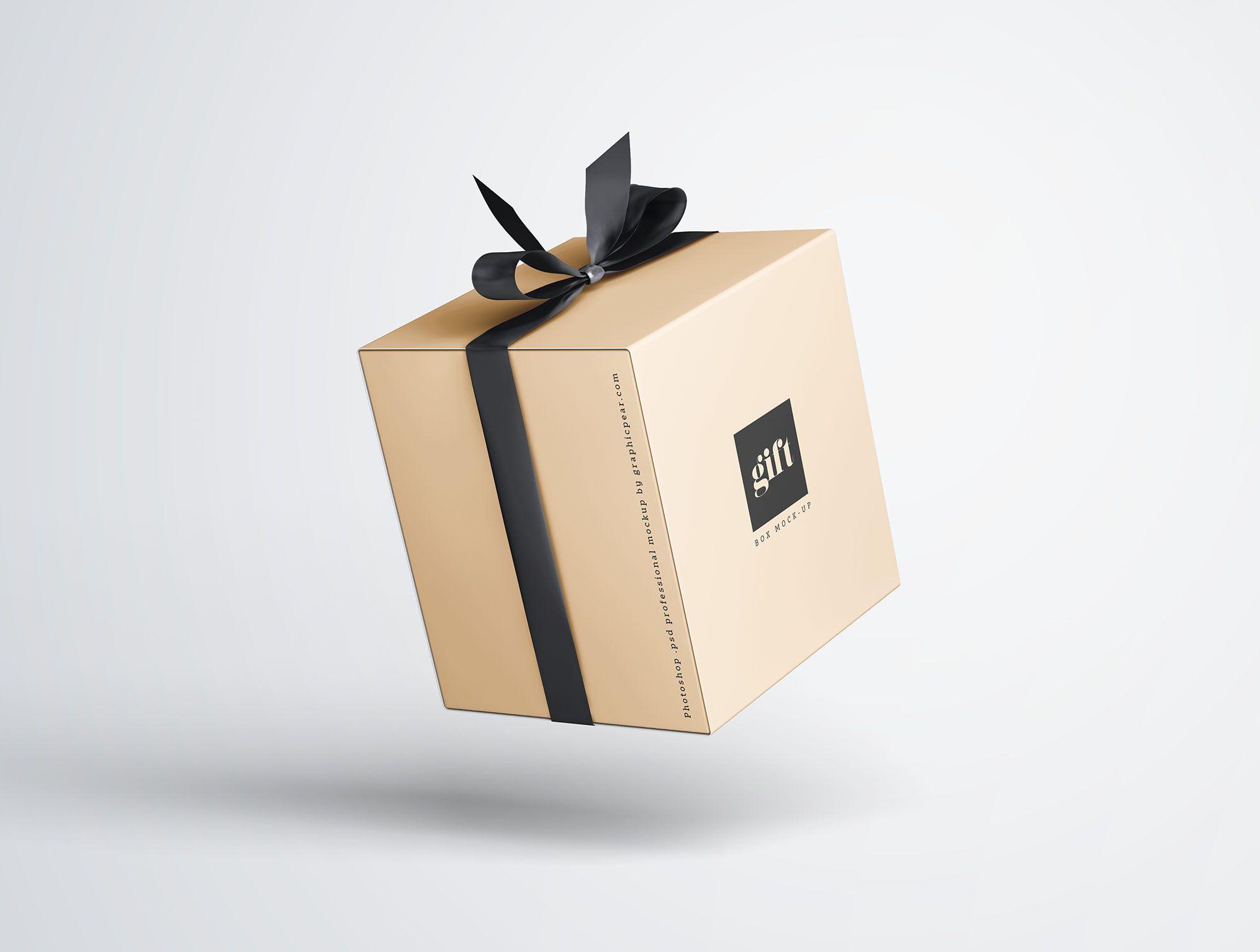 Download Maqueta De Caja De Regalo 7 Box Mockup Mockup Free Psd Mockup