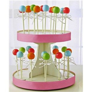 Sunny Side Up Bakery White Cardboard Cake Pop Decorating Display Stand Shop Hobby Lobby Cake Pop Decorating Cake Pop Stands White Cake Pops