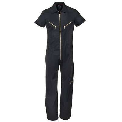 14acbed5c8e Dickies Coverall  Womens Stonewashed Black FV100 SBK Short Sleeve Coverall