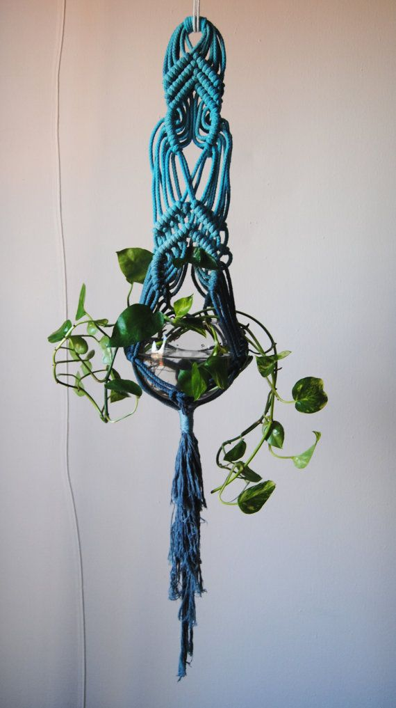 Macrame Plant Hanger by SlowDownProductions on Etsy, $46.00