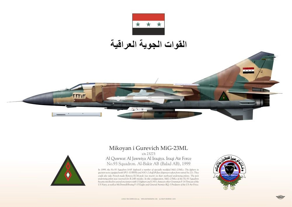 Al Quwwat Al Jawwiya Al Iraqiya. Iraqi Air Force No.93 Squadron. Al-Bakir AB (Balad AB), 1999