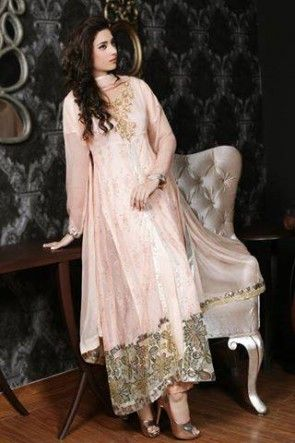 266860b9a1 Sha Posh Chiffon Embroidered Stitched 3Pcs Frock with Chiffon Dupatta