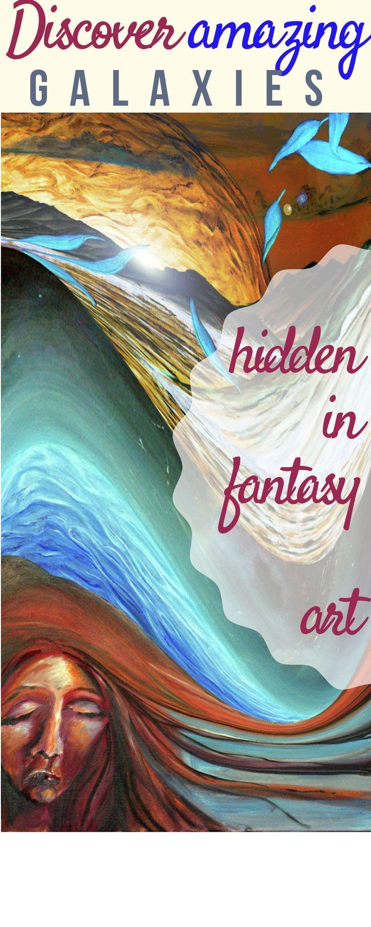 Artworks featuring galaxies nebulas stars and deep space fantasies