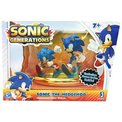 Amazon Com Sonic Generations Exclusive Statue 2pack With Game Codes Toys Sonic Generations Sonic Birthday Sonic
