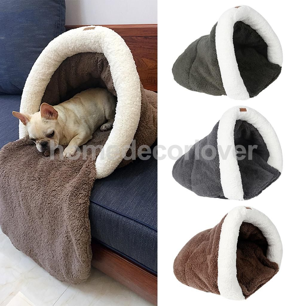 Pet Cat Dog Nest Bed Puppy Soft Warm Cave House Winter