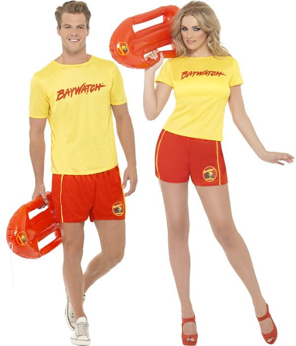 65a432ef1ab7 Couples Baywatch Beach Costumes