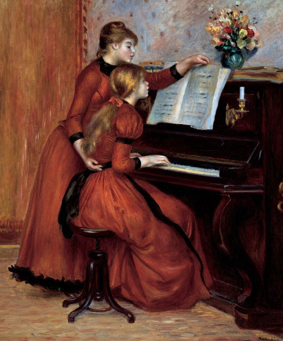 the Girls renoir at piano