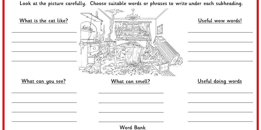 Six differentiated writing activities using sentence